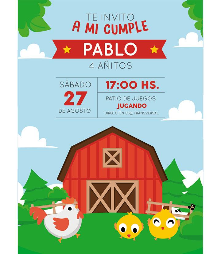 Tarjeta De Invitación Para Cumpleaños